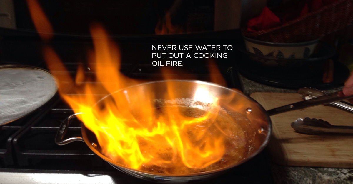 cooking fire, fireproof